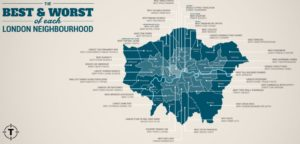 Those moving from Edinburgh to London may be interested in the best and worst aspects of each London borough.