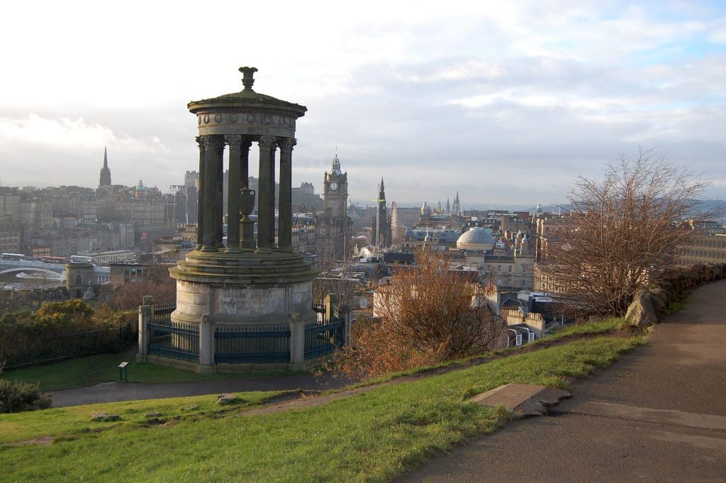 After using our Swansea to Edinburgh removals service we suggest you climb Calton Hill to get your bearings quickly.